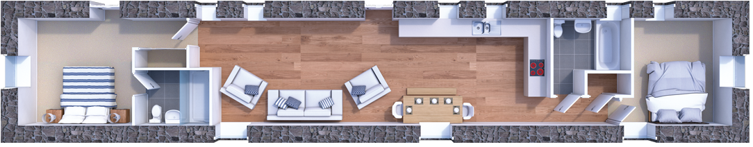 barn conversion floorpan